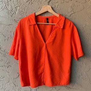 🍁 Orange Zara TRF Buttondown
